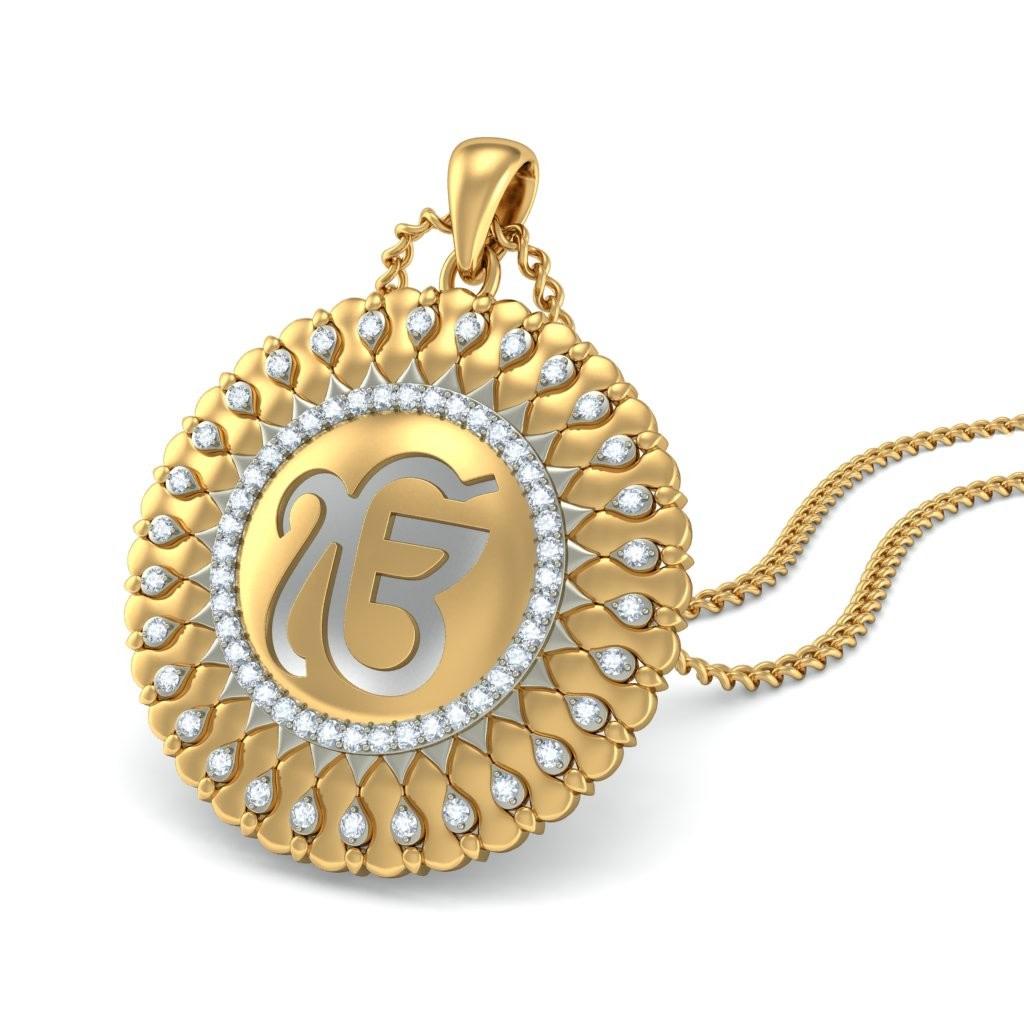 the sacred ek onkar pendant bluestone
