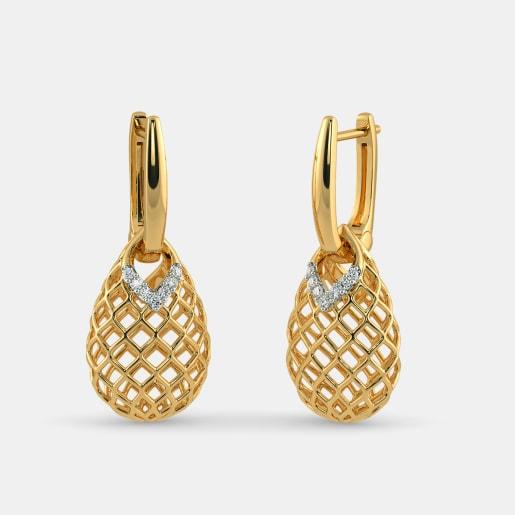 Gold Earrings Buy 1900 Gold Earring Designs Online in India 2018