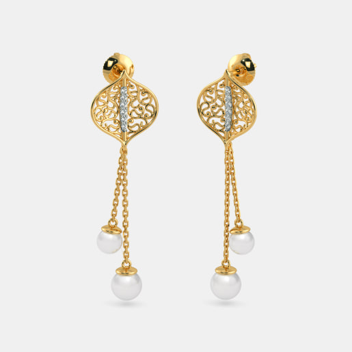 Pearl Earrings Buy 200 Pearl Earring Designs Online in India 2018