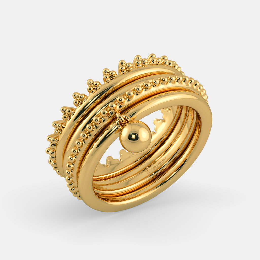 Yellow Gold Ring On Finger