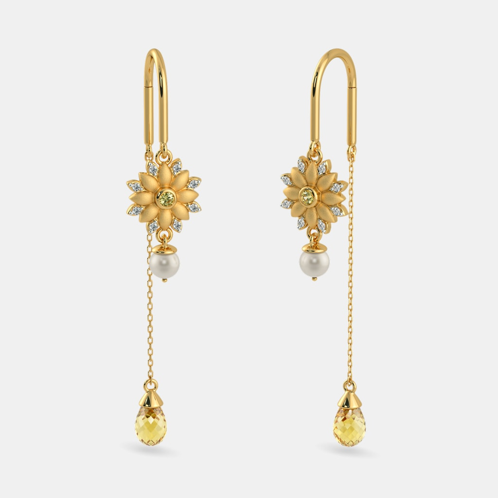 The Pihu Sui Dhaga Earrings | BlueStone.com
