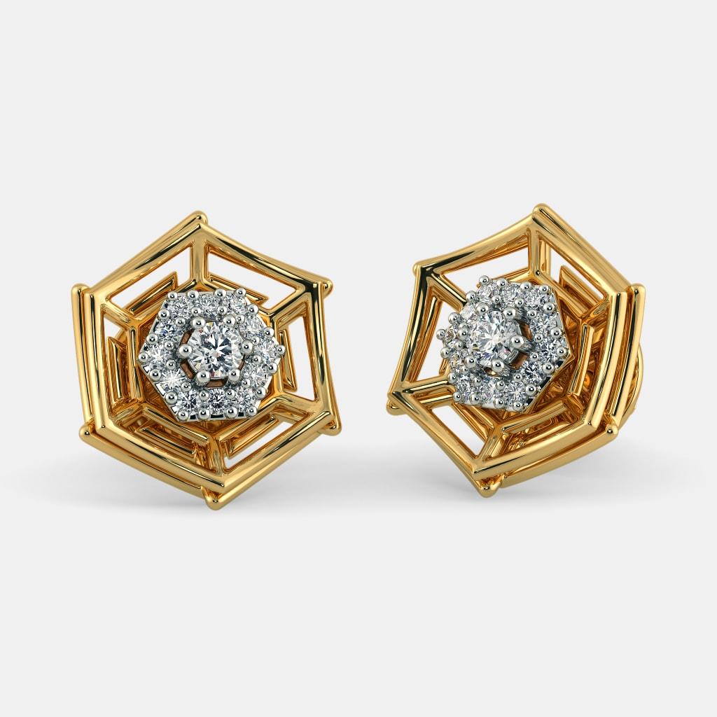 The Caia Jacket Earrings Bluestone