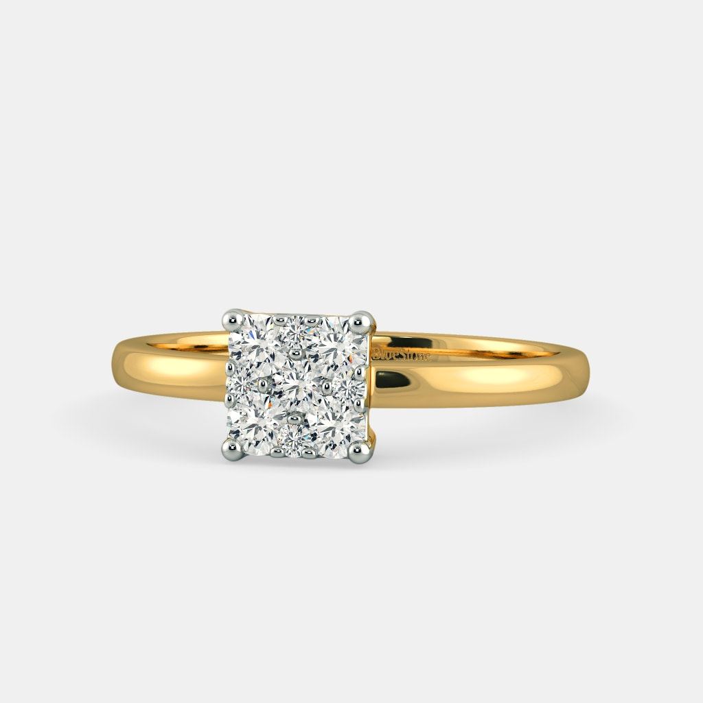 cut p ct in gold channel set tw ring composite engagement princess diamond white