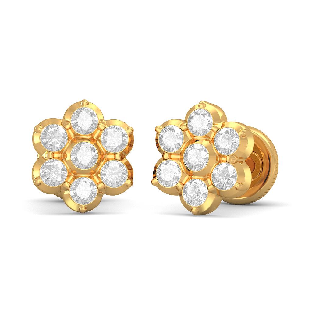 Blue Stone Stud Earrings Jewelry Source · The Prajna Stud  Earringsperspective2nos