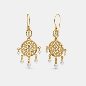 The B Iconic Medallion Dangler Earrings