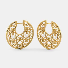 The B Iconic Disc Hoop Earrings
