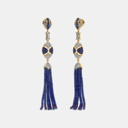 The Sapphire Snake Drop Earrings