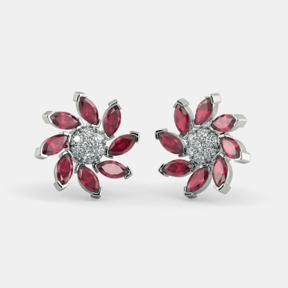 The Flowery Panache Stud Earrings