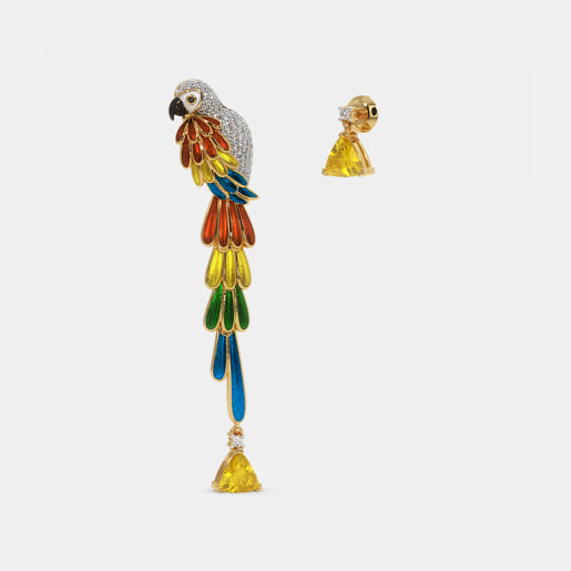 The Scarlet Macaw Mismatch Drop Earrings