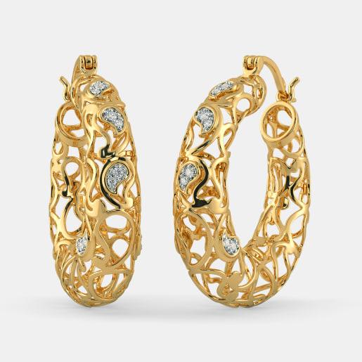 The Jaimini Paisley Hoop Earrings