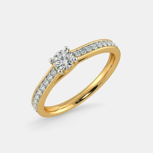 Diamond PreSet Solitaire Ring In Yellow Gold (2.59 Gram)