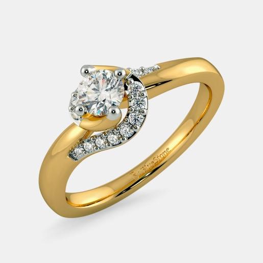 Diamond PreSet Solitaire Ring In Yellow Gold (3.72 Gram)