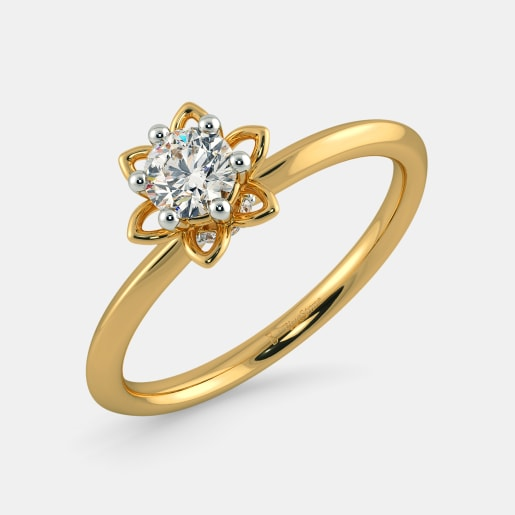 Diamond PreSet Solitaire Ring In Yellow Gold (2.45 Gram) With Diamonds (0.050 Ct) And Solitaire (0.25 Ct)