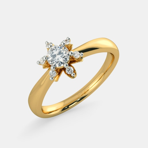 Diamond PreSet Solitaire Ring In Yellow Gold (3.49 Gram) With Diamonds (0.060 Ct) And Solitaire (0.25 Ct)