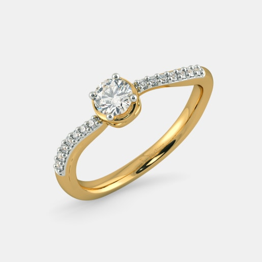 Diamond PreSet Solitaire Ring In Yellow Gold (2.32 Gram)