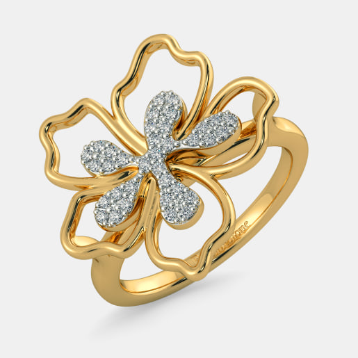 The Tranquil Hibiscus Ring
