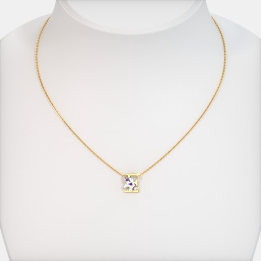 The E For Elephant Necklace For Kids