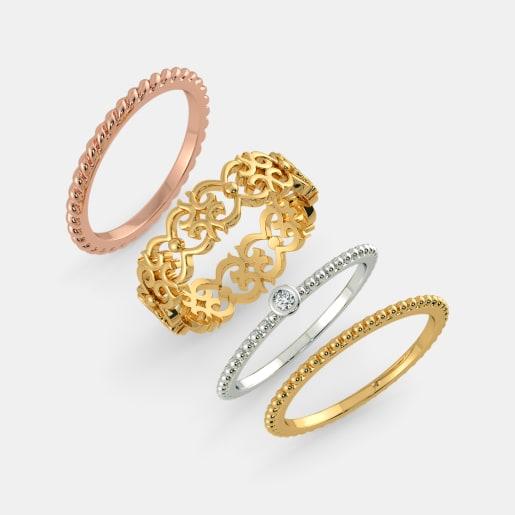 Diamond Ring In Yellow Gold (6.3 Gram) With Diamonds (0.025 Ct)