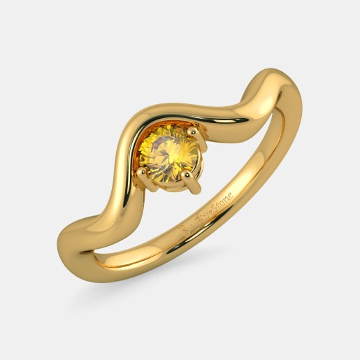 Buy 50 Single Stone Gold Ring Designs line in India 2018