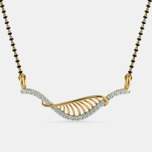 Diamond Mangalsutra In Yellow Gold (1.16 Gram) With Diamonds (0.200 Ct)