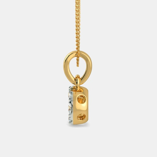 Diamond Pendant In Yellow Gold (0.65 Gram) With Diamonds (0.295 Ct)