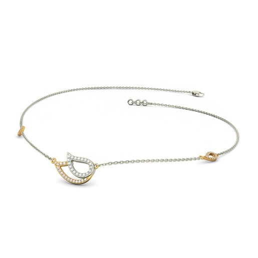 The Paisley Line Necklace