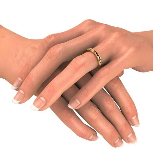Diamond Ring In Yellow Gold (2.52 Gram) With Diamonds (0.045 Ct)