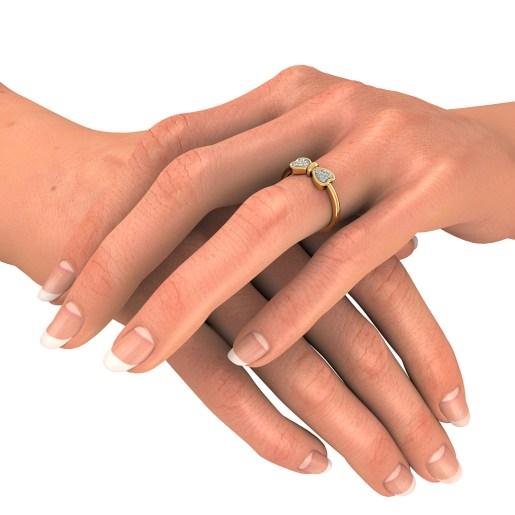 Diamond Ring In Yellow Gold (2.71 Gram) With Diamonds (0.088 Ct)