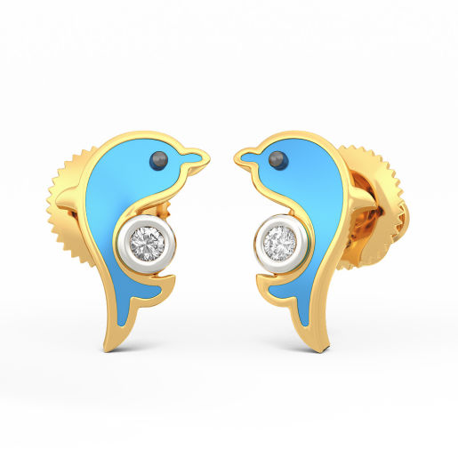 The Friendly Dolphins Earrings for Kids