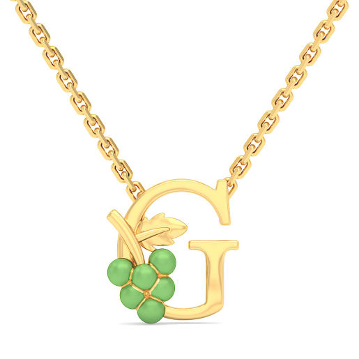 G for Grapes Necklace for Kids